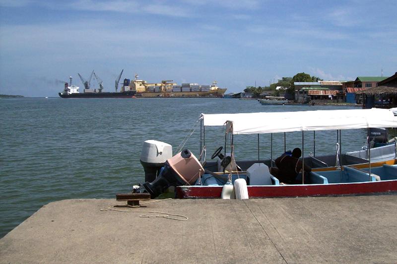 Arribant a Puerto barrios, des d'on vaig se