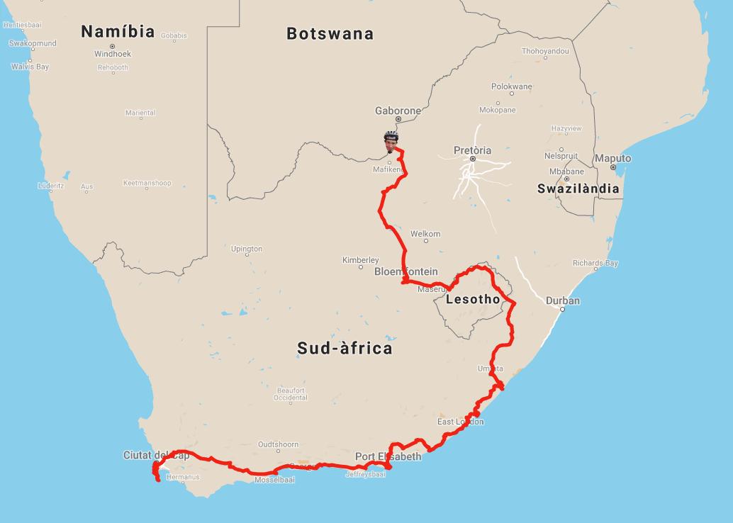 Mapa Sud-àfrica